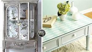 Papier Deco Meuble : relooker un meuble avec du papier peint voici 20 id es ~ Teatrodelosmanantiales.com Idées de Décoration