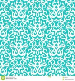 wedding flowers design damask pattern in white on turquoise stock image image