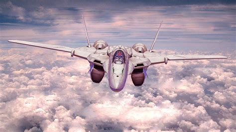 macross macross frontier jet plane sky wallpapers