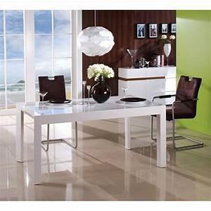 Salle A Manger Bois Blanc : table de salle manger design extensible en bois blanc braga ~ Melissatoandfro.com Idées de Décoration