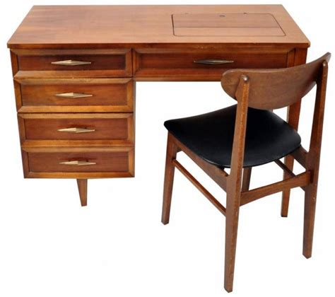 mid century modern retro folding sewing table vintage for