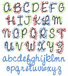 Polka Dot Monogram Embroidery Font