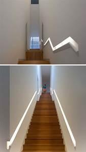 Main Courante Escalier Intérieur : main courante escalier int gr e de style moderne eclairage design main courante et escaliers ~ Preciouscoupons.com Idées de Décoration
