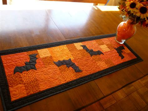 halloween quilted table runner just in time for halloween table runners