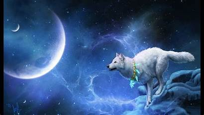 Moon Wolf Wallpapers Rock Snow Fantasy Winter