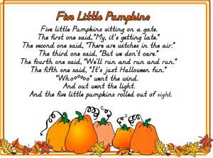 Five Little Pumpkins Sitting On a Gate Printables