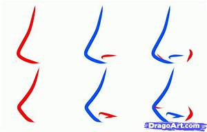 How to Draw an Easy Nose, Step by Step, Nose, People, FREE ...