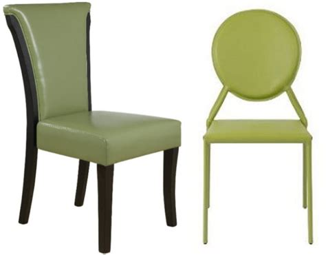 Green Leather Dining Chair Whereibuyitcom