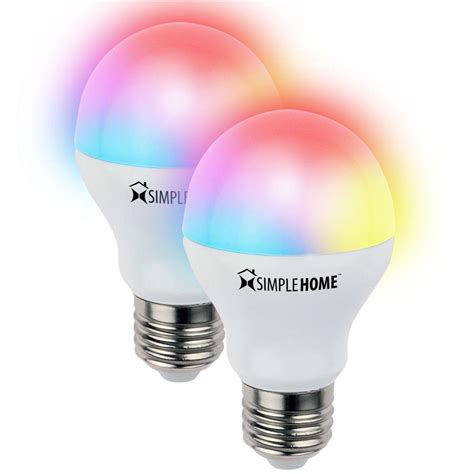 simple home multi pack multi color smart led light bulb