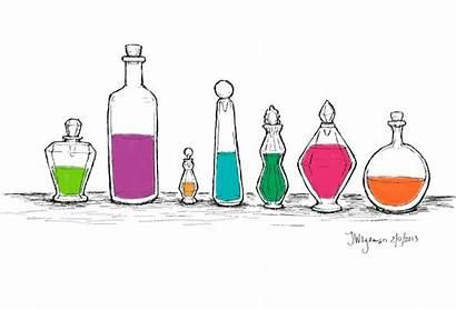 Potion Bottle Bottles Drawing Potter Harry Potions
