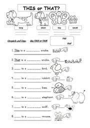 thisthat worksheet  images english language