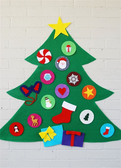 original felt ornaments for your christmas tree modern