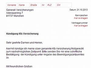 Kündigung Einer Wohnung : generali kfz versicherung k ndigung vorlage download chip ~ Yasmunasinghe.com Haus und Dekorationen