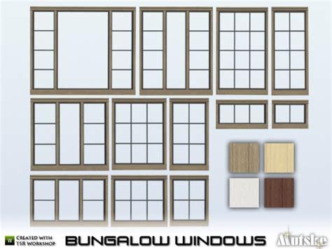 Bungalow Windows By Mutske • Sims 4