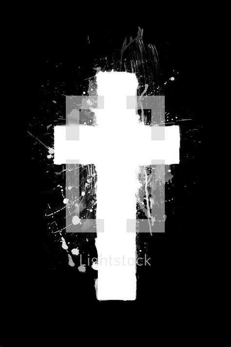 White Cross Background Painted White Cross On Black Background Photo By Prixel