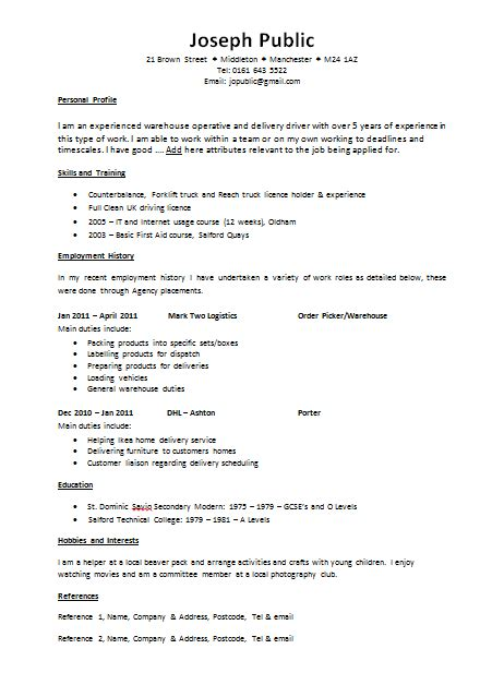Cv Template Uk by Cv Templates The Lighthouse Project