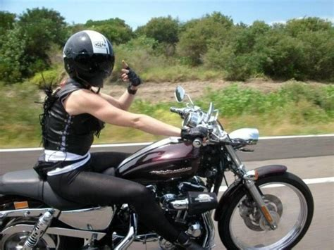 Woman / Girl On Motorcycle. This Is My Fitness Motivation