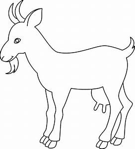 Outline drawing of a goat; Animals