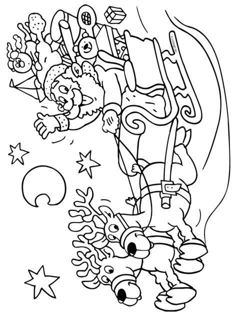 Kerstman Rendier Kleurplaat by Kleurplaat Kerstman In Arrenslee Kleurplaten Nl