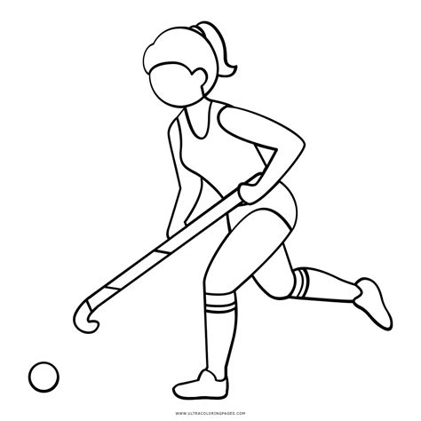 Hockey Kleurplaat by Field Hockey Coloring Pages Sketch Coloring Page