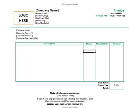 freelance receipt template freelance excel invoice template for hourly rates kamal
