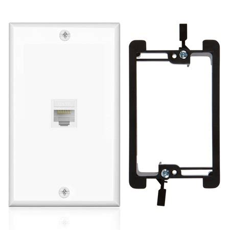 Ethernet Network Cat Wall Plate Port Single Gang
