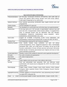 Gxp2130  Gxp2140  Gxp2160 Technical Specifications  Table 3