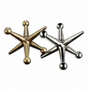 Jayden Giant Jacks Brass Silver Sculptures- Set of 2