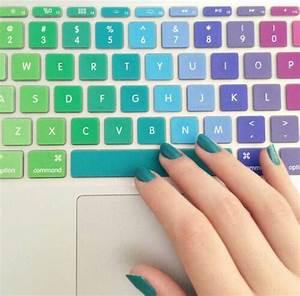 Colorful, Cute, Keyboard, Love, Nails
