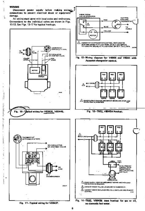 Zone Valve Wiring Manuals Installation Instructions