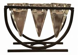 glass votive holders with metal base chairish With kitchen cabinet trends 2018 combined with 4 votive candle holder