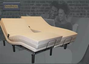 deluxe electric adjustable bed and memory foam mattress