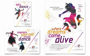 dance studio flyer ad template design With dance flyers templates free
