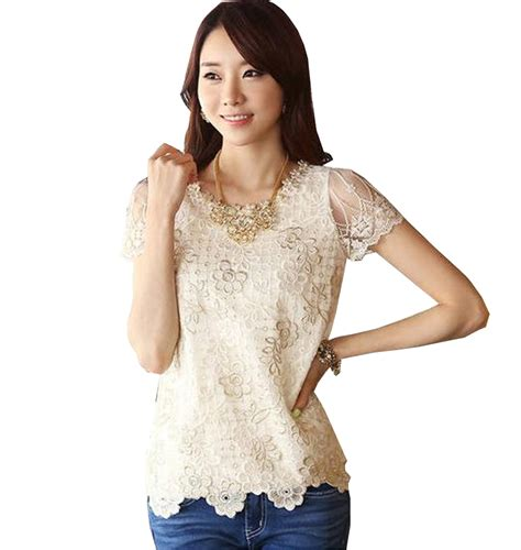plus size formal tops blouses 2015 fashion beading lace blouse embroider