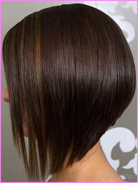 medium length angled bob hairstyles stylesstar com