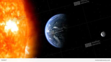 Sun Earth Moon Earth Moon Sun 02 Stock Animation 593407