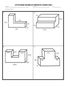 volume  composite shapes worksheet volume  composite