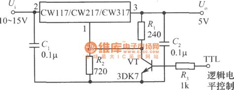 Logic Control Integrated Regulated Power Supply Circuit
