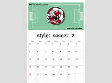 Printable Soccer Calendars personalized soccer calendars