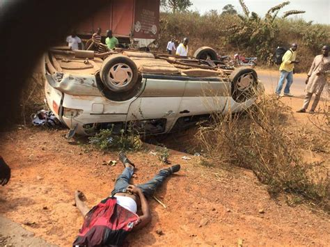 Ortom At The Scene Of A Motor Accident, Gives Help ...