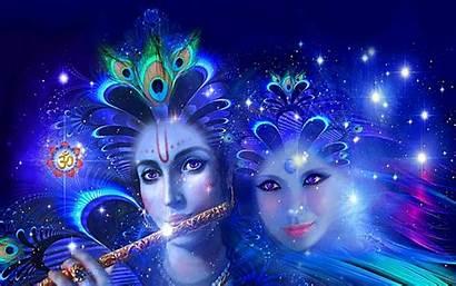 3d Wallpapers God Krishna Desktop Radha Cave