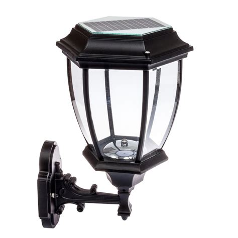 solar 12 led outdoor garden l sconce wall lantern light