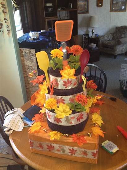 Towel Cakes Shower Bridal Fall Cake Gifts