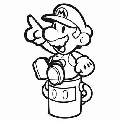 Mario Paper Splash Coloring Pages Artwork Nintendo