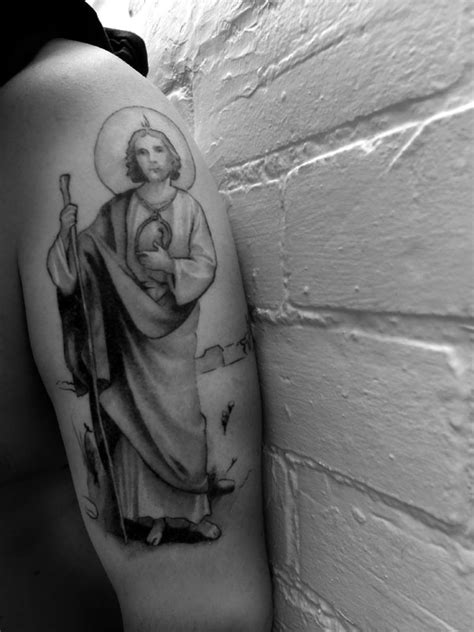 St. Jude Tattoo - 50% finished... | St.Jude-Patron & Saintly Liaison | Pinterest