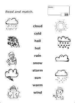 weather vocabulary for learning printable