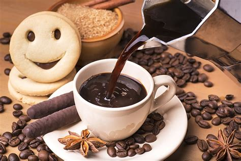 Download and use 10,000+ coffee stock photos for free. HD wallpaper: coffee and cookies, mood, drink, cinnamon, chocolate sticks, Anis | Wallpaper Flare