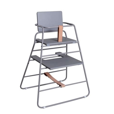 leo bzbx budtzbendix tower high chair grey and