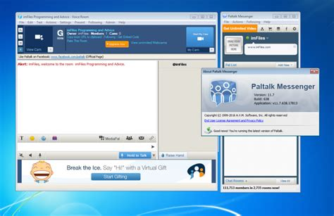 Start a free video chat, voice or text group chat with anyone on any device. Download Paltalk Messenger 1.16.2.45543