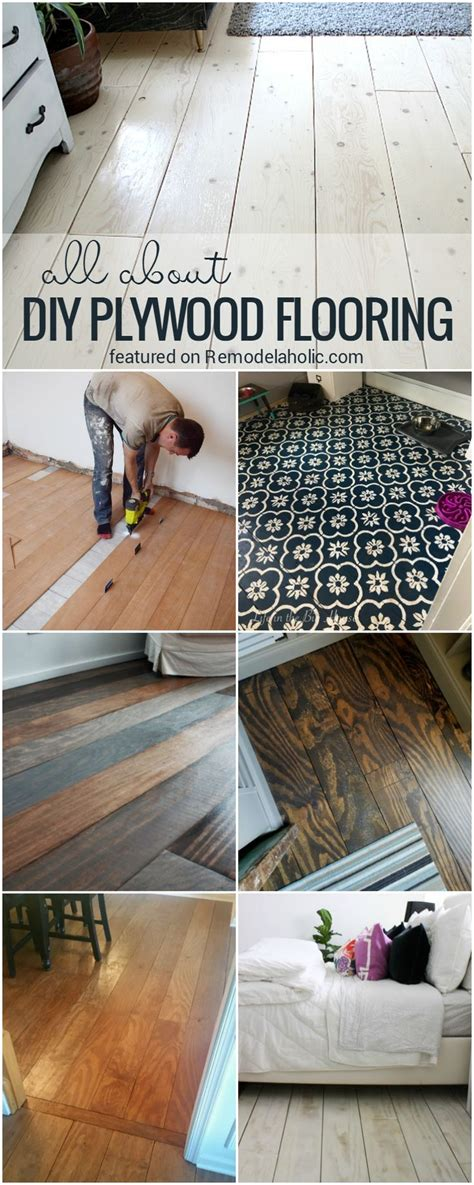 plywood flooring diy pros cons tips floors plank remodelaholic planked floor installation wood planks ceiling faqs living painted wide durability